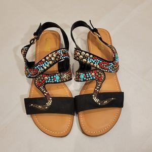 Carlos By Carlos Santana Terris Jeweled Sandals